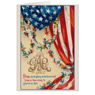 Armée grande d'ORPHIE patriotique vintage de carte