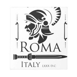 Armée romaine - légionnaire avec Gladio Bloc-note
