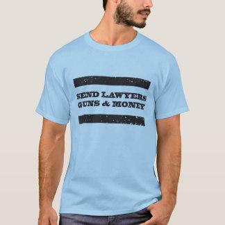 Armes à feu d'avocats et T-shirt d'argent