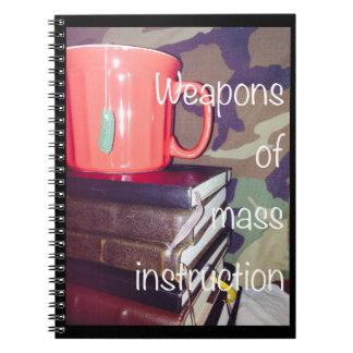 Armes de carnet de masse d'instruction