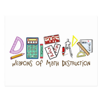 Armes de destruction de maths cartes postales