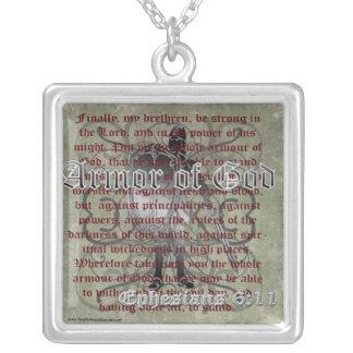 Armure de Dieu, 6h10 d'Ephesians - 18, soldat Pendentif Carré