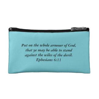 Armure de sac cosmétique de Dieu avec la bible