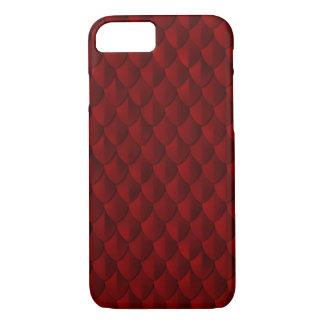 Armure d'échelle de dragon rouge sang coque iPhone 7