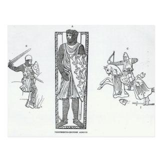 Armure du 13ème siècle cartes postales