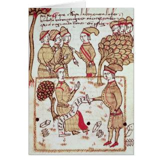 Arpenteur avec ses travailleurs carte de vœux