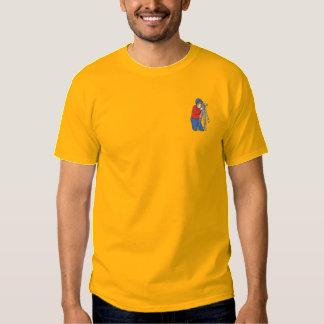 Arpenteur masculin  t-shirt brodé