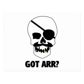 Arr obtenu ? Crâne de pirate Carte Postale