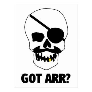 Arr obtenu ? Crâne de pirate Cartes Postales