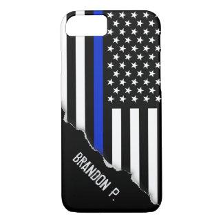 Arraché semblez le drapeau américain mince de Blue Coque iPhone 7