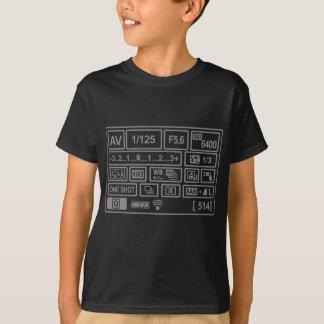 Arrangement de DSLR T-shirt