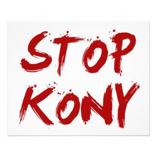 Arrêt Joseph sanglant rouge Kony de Kony 2012 Prospectus 11,4 Cm X 14,2 Cm