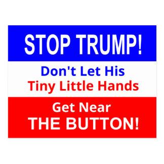Arrêtez carte postale minuscule des mains de