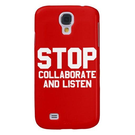 arrêtez collaborent et écoutent