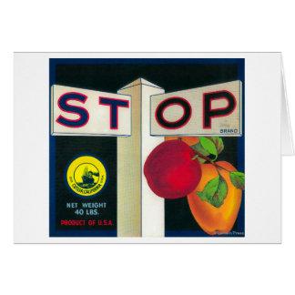 Arrêtez la caisse LabelCutler, CA d'Apple Carte De Vœux