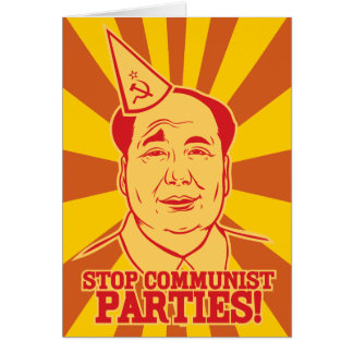 Arrêtez la carte de Mao de Président de partis