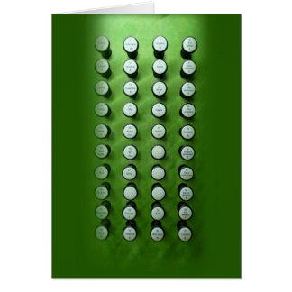Arrêtez la console verte de boutons carte de vœux