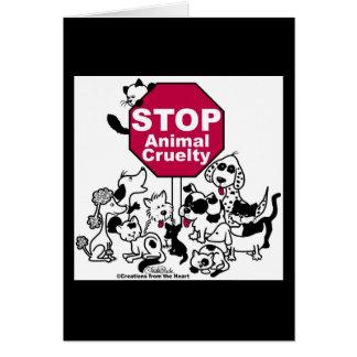 Arrêtez la cruauté animale carte de vœux