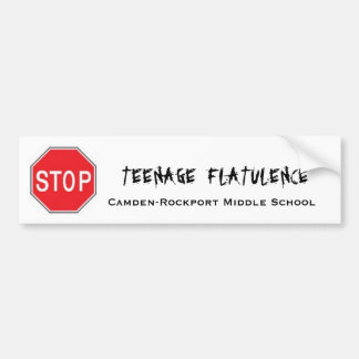 Arrêtez la flatulence adolescente autocollant de voiture