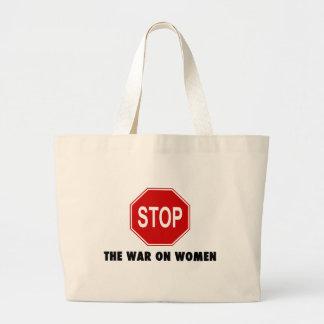 Arrêtez la guerre sur des femmes sac en toile jumbo