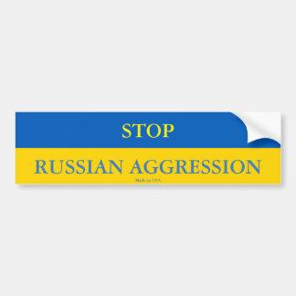 Arrêtez l'adhésif pour pare-chocs russe autocollant pour voiture