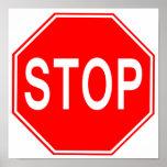 Arrêtez l'affiche de signe poster