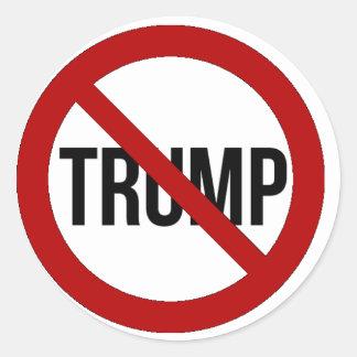 Arrêtez l'Anti-Atout 2016 de Donald Trump Sticker Rond
