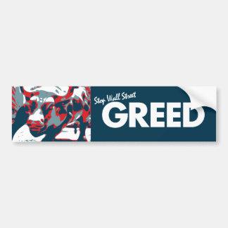 Arrêtez l'avidité de Wall Street Adhésif Pour Voiture