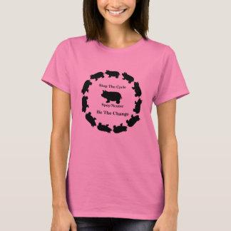 Arrêtez le cycle, soyez le changement, T-shirt de
