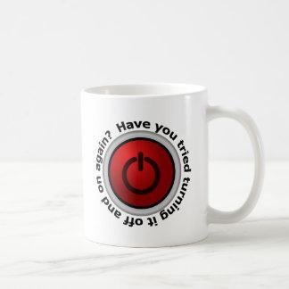 Arrêtez-le dessus et - logo de bouton mug
