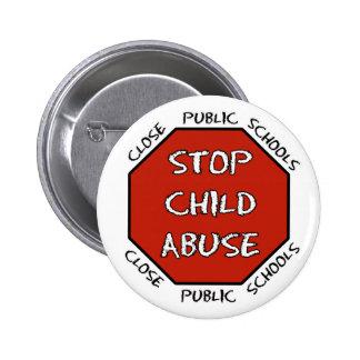 Arrêtez le mauvais traitement à enfant badge
