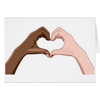 Arrêtez le racisme carte de vœux