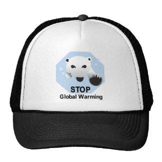 Arrêtez le réchauffement climatique casquette de camionneur