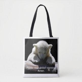 Arrêtez le sac fourre-tout à ours blanc de