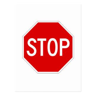 Arrêtez le signe cartes postales