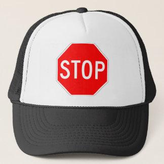 Arrêtez le signe casquette