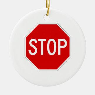 Arrêtez le signe ornement rond en céramique