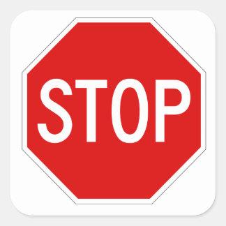 Arrêtez le signe sticker carré