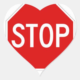 Arrêtez le signe sticker cœur