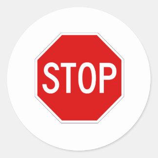 Arrêtez le signe sticker rond