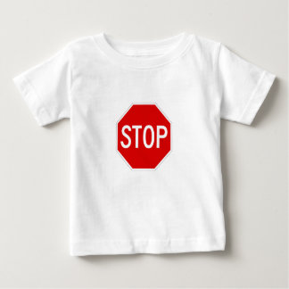 Arrêtez le signe t-shirt pour bébé