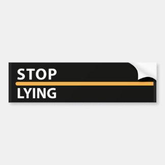 Arrêtez le supplément menteur autocollant de voiture