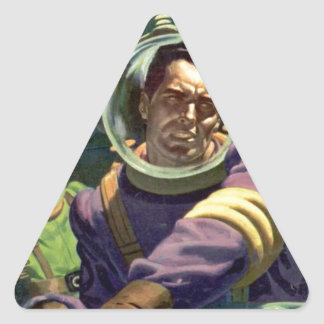 Arrêtez l'eau ! sticker triangulaire