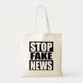 Arrêtez les fausses nouvelles sac fourre-tout