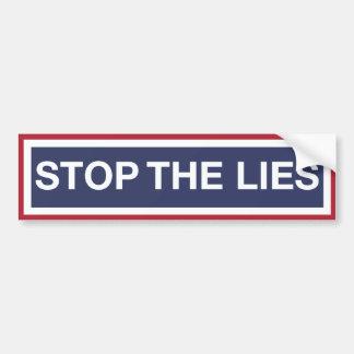 Arrêtez les mensonges autocollant pour voiture