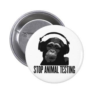 arrêtez l'expérimentation animale pin's