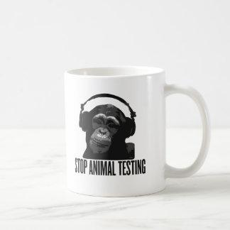 arrêtez l'expérimentation animale mug blanc