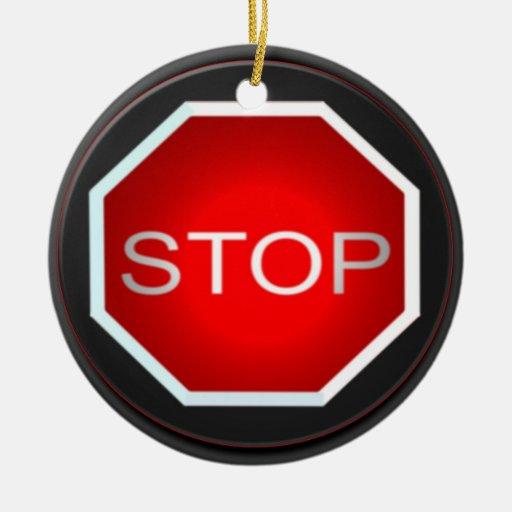 Arrêtez l'ornement de signe