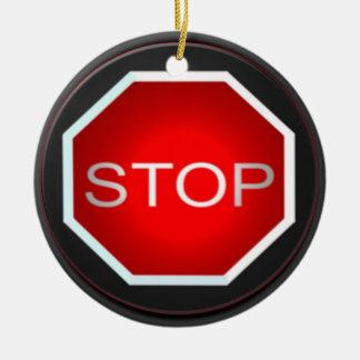 Arrêtez l'ornement de signe ornement rond en céramique