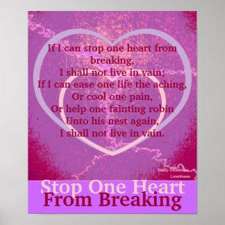 Arrêtez un coeur de casser l'Affiche-Personnaliser Posters